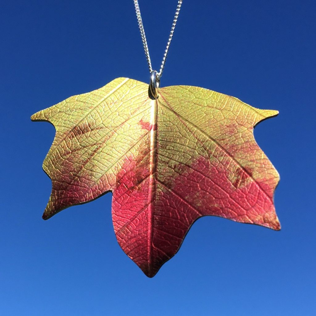 Meet thy maker Photofinish Jewellery Ditton Maple leaf necklace