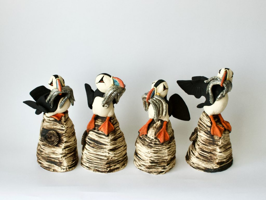 meet-thy-maker L A Greene Puffin with Sand Eels